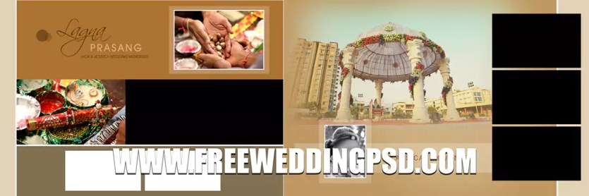 indian wedding invitation card in psd