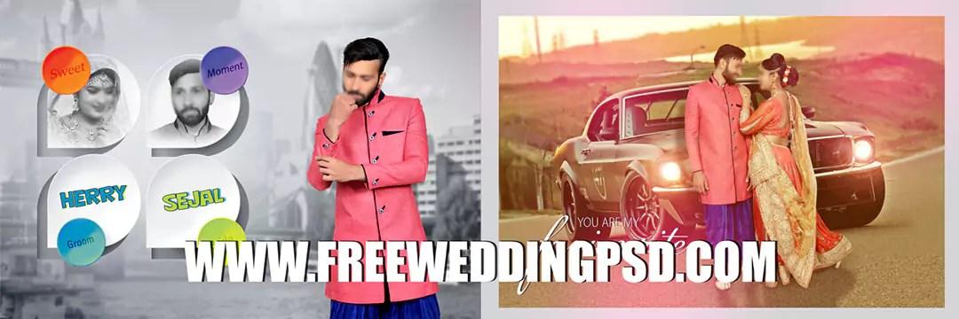 free psd wedding background download
