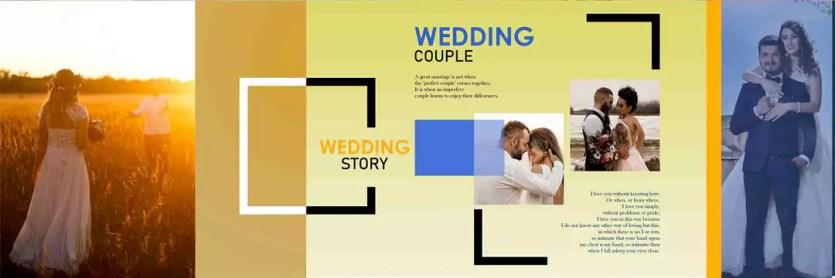 pre wedding design album psd