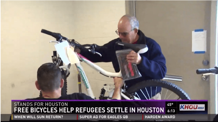 Freewheels' bikes for refugees program has attracted media attention.