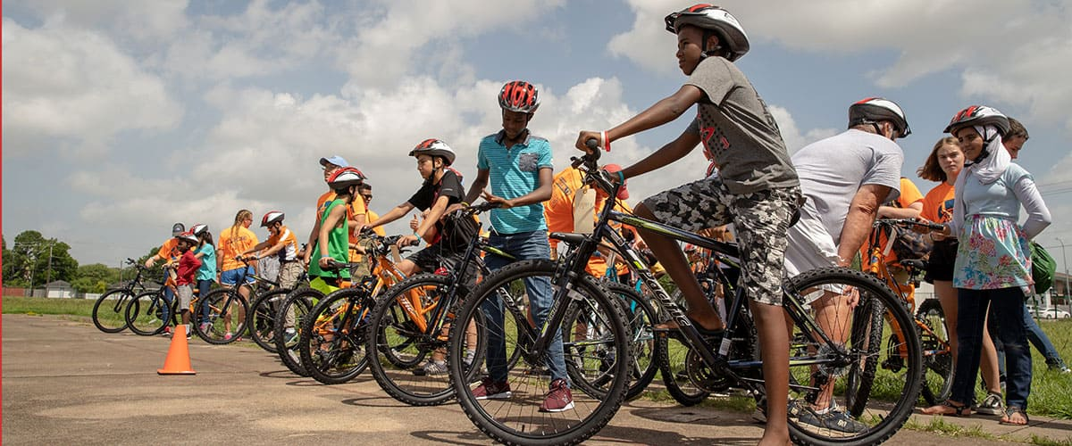Bikes mean freedom for Bike Camp participants.