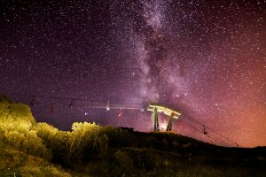Milky Way over chairlift at Alum Bay