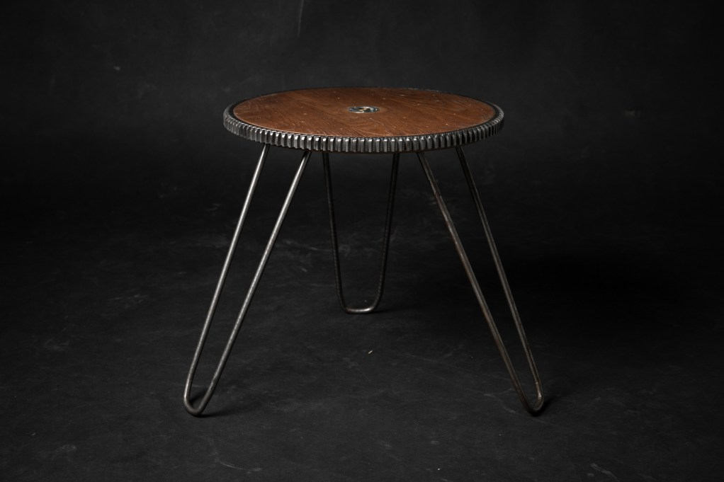 table de chevet industrielle upcycling