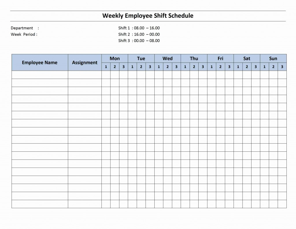 Search Results For Printable Employee Shift Schedule