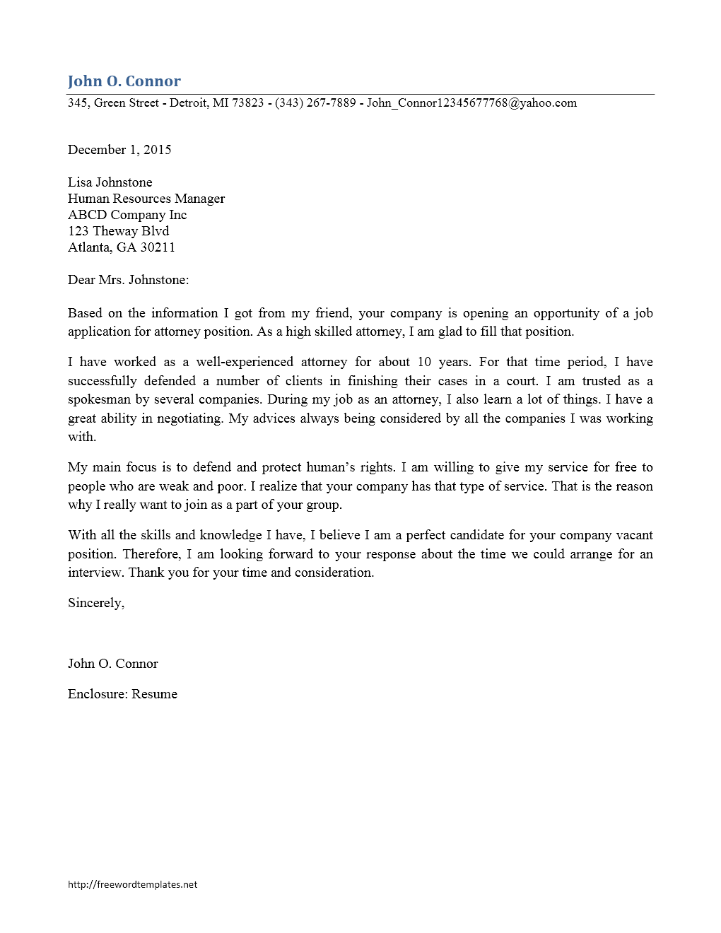 District attorney intern cover letter