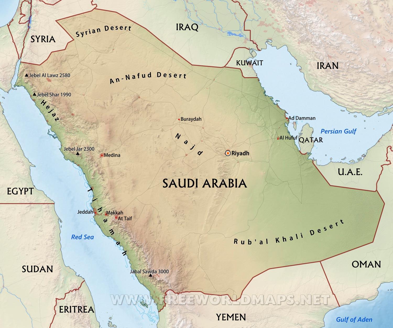 World Map Rub Al Khali Desert Map Of The World