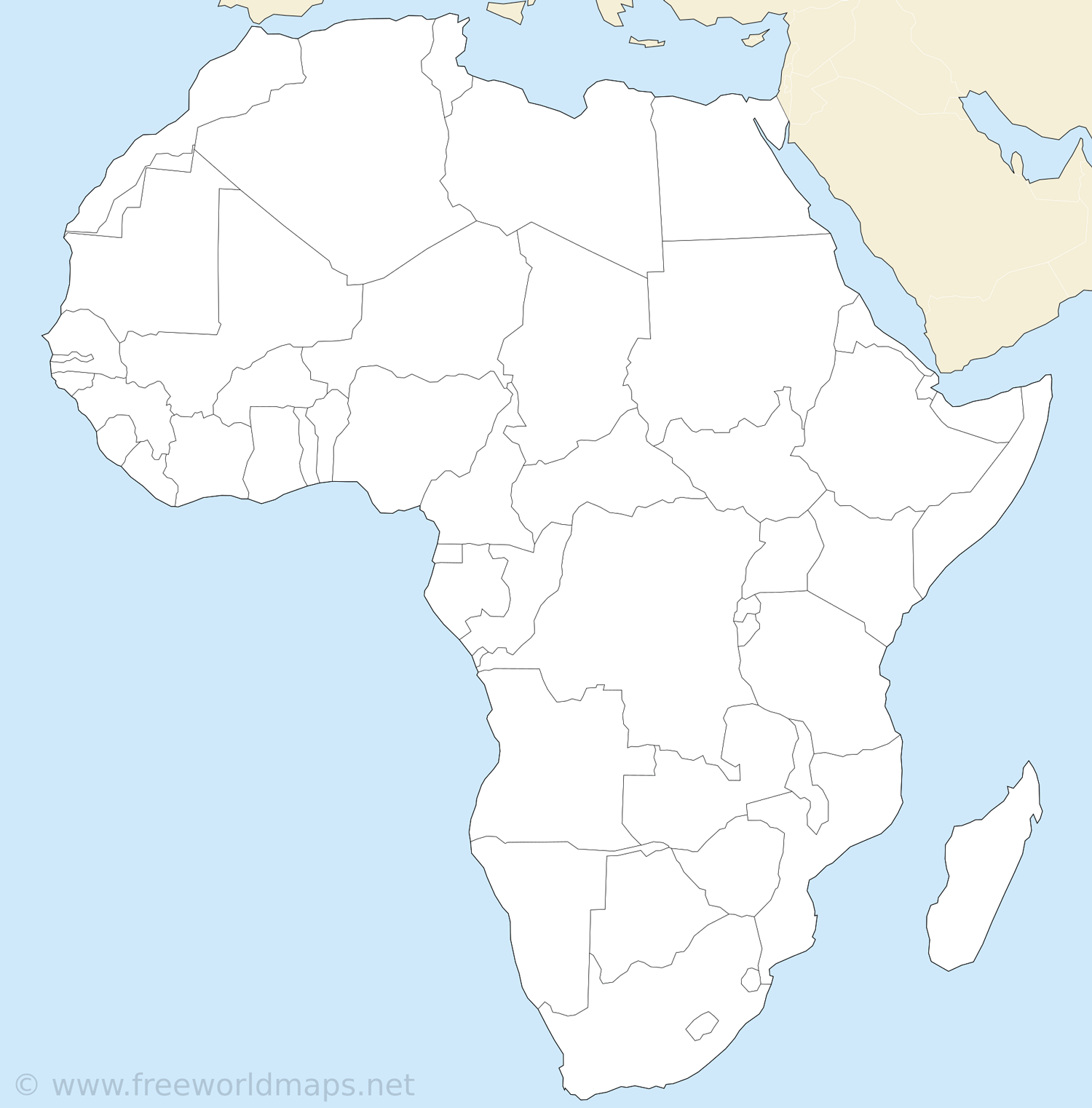 Africa Printable Maps By Freeworldmaps