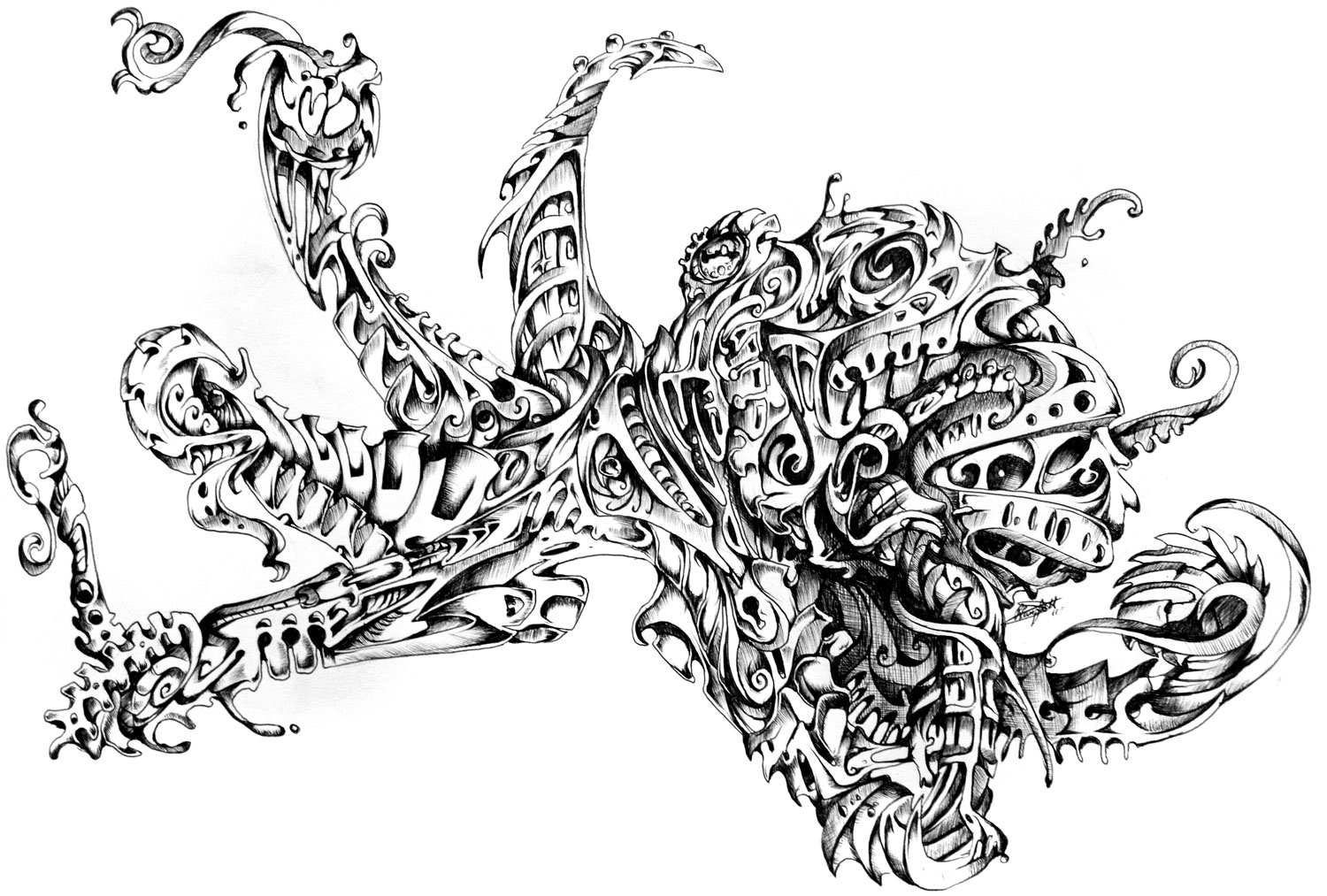 Stunning Black And White Illustrations By Rene Campbell