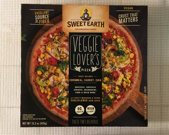 Sweet Earth Veggie Lovers Pizza Review  Freezer Meal Frenzy