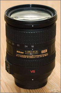 Nikkor 18-200 mm op 18 mm