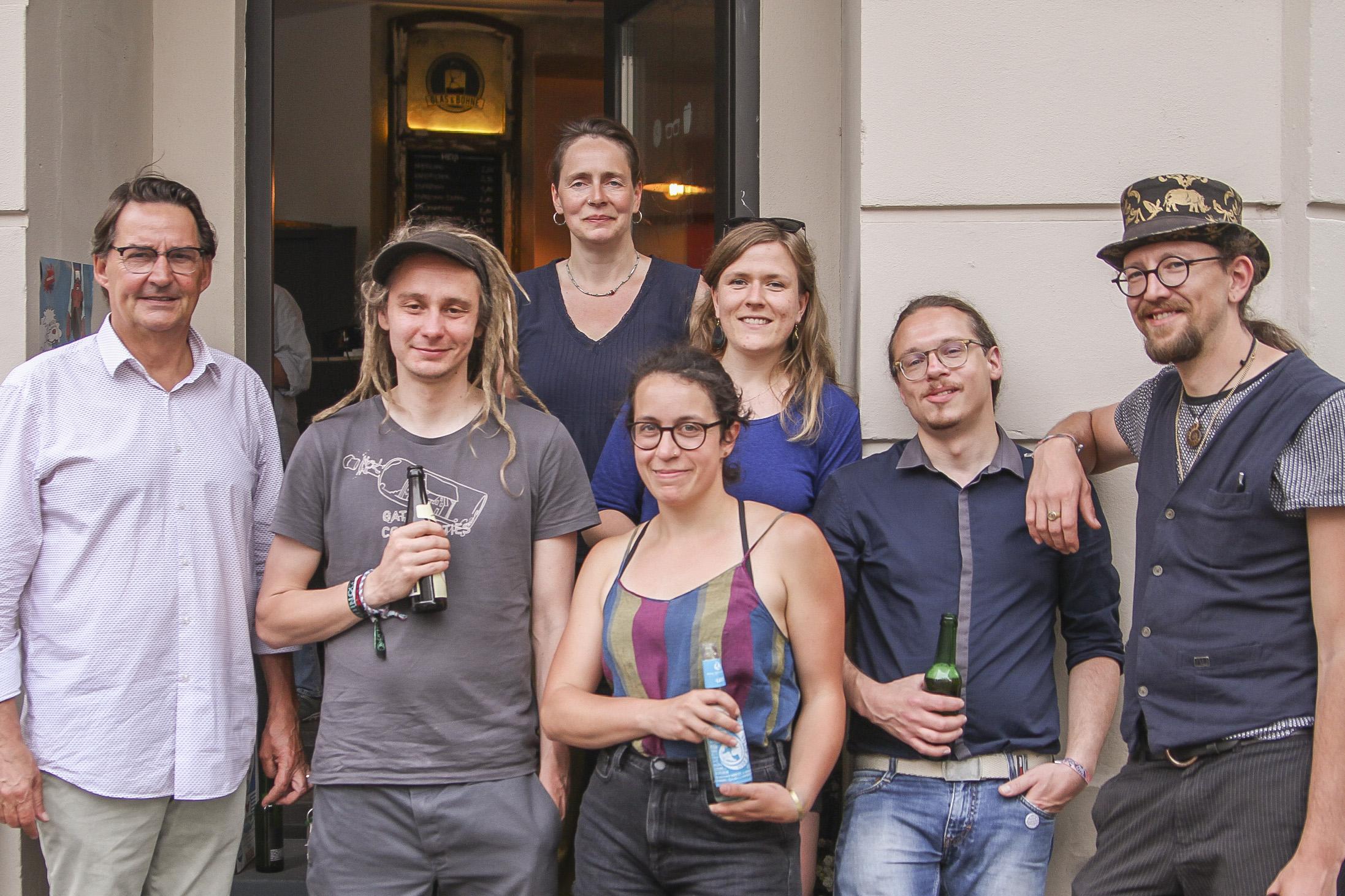 Alle Referenten des 49. Unternehmerstammtisch Leipziger Westen bei Glas & Bohne.