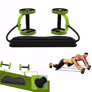 Abs Übungsräder Roller Stretch Elastic Abdominal Pull Rope Bauchmuskeltrainer Home Fitness Equipment