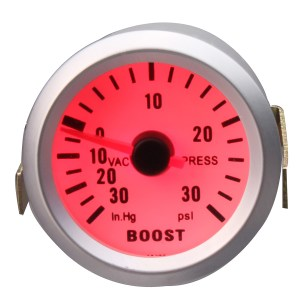 2 Zoll 52mm Universal Car Red LED Druck Turbo Boost Gauge Meter 30 Psi mit Schlauch