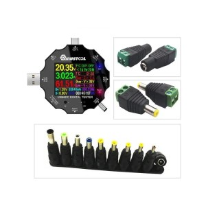MUSTOOL UD18 USB3.0 / DC / Type-C 18 in 1 USB-Tester APP Bluetooth + 12 Adapter
