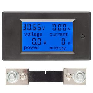 100A DC Digital Multi-Funktions-Spannung Strom Power Electric Energy Meter Batterie Tester mit 100A