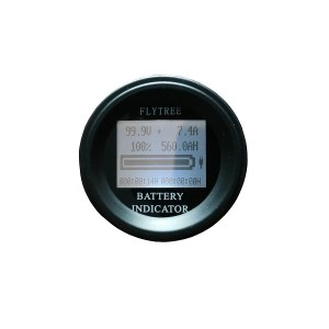 100 V 50A/100 A Rundes Coulombmeter Coulometer Lithium-Ionen LiFePO4 Batterie Real Kapazität LCD Elektrisches Parameter-Messgerät Coulomb-Zähler