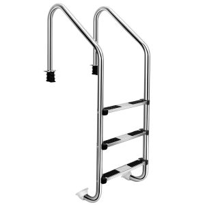 3-Step In-Ground Stainless Pool Ladder