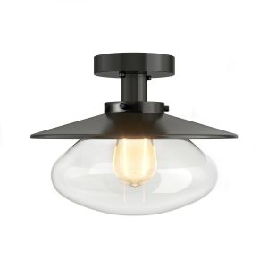 Vintage styled Ceiling Light with Glass Shade (E27 Bulb)
