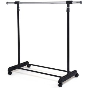 Adjustable Metal Rolling Clothes Rail