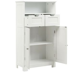 Floor Utility Storage Cabinet with Adjustable Drawers