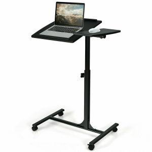 Black Mobile Height Adjustable Laptop Lifting Table