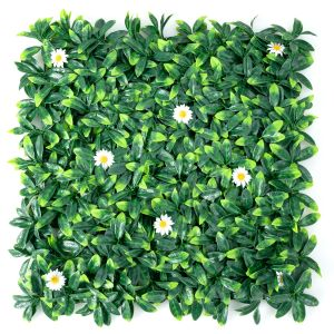 12 Decorative Fencing Squares of Leaves and Daisies