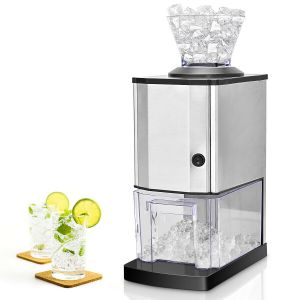 Stainless Electric Ice Crusher with Ice Tray & Scoop