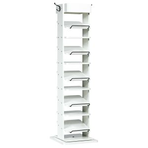11 Tier 360?? Rotating Shoe Organiser with 2 Hooks