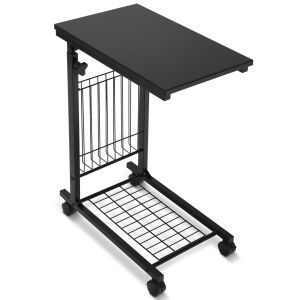 C-Shaped Laptop Notebook Table with Wheels