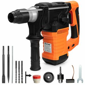 4 in 1 Rotary Hammer Drill with 6-Speed Adjustments