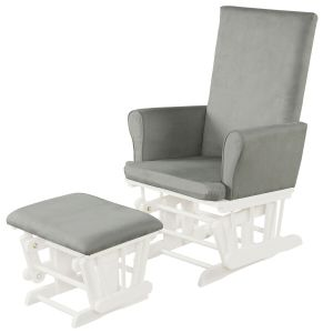 Wooden Glider Chair with Footstool