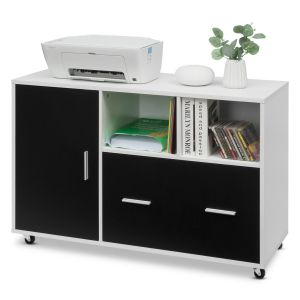 Mobile File Storage / Printer Stand with 5 Caster
