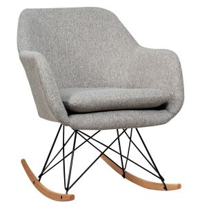 Accent Rocker Chair Upholstered Single Relax Armchair