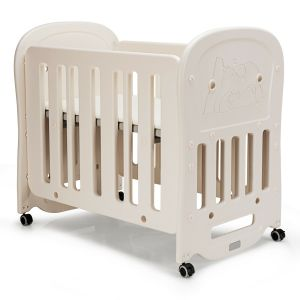 Height Adjustable Rocking Cot with Wheels