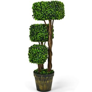 88cm Artificial Triple Square Shaped Topiary Decoration Tree