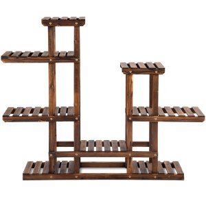 6 Tier Wooden Plant Stand Flower Pot Display Stand