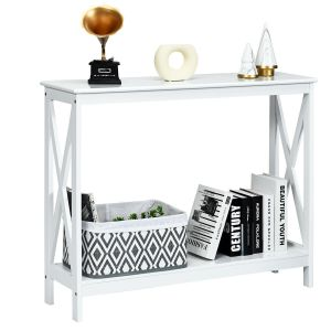 2 Tier Wooden Console Table