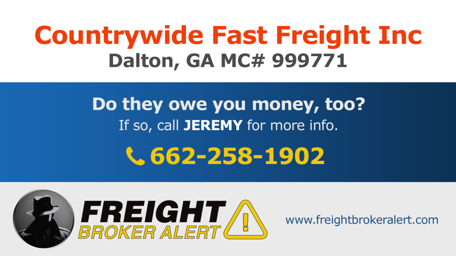 Countrywide Fast Freight Inc Georgia