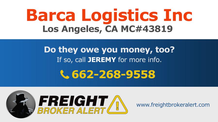 Barca Logistics Inc California