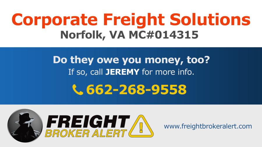 Corporate Freight Solutions LLC Virginia