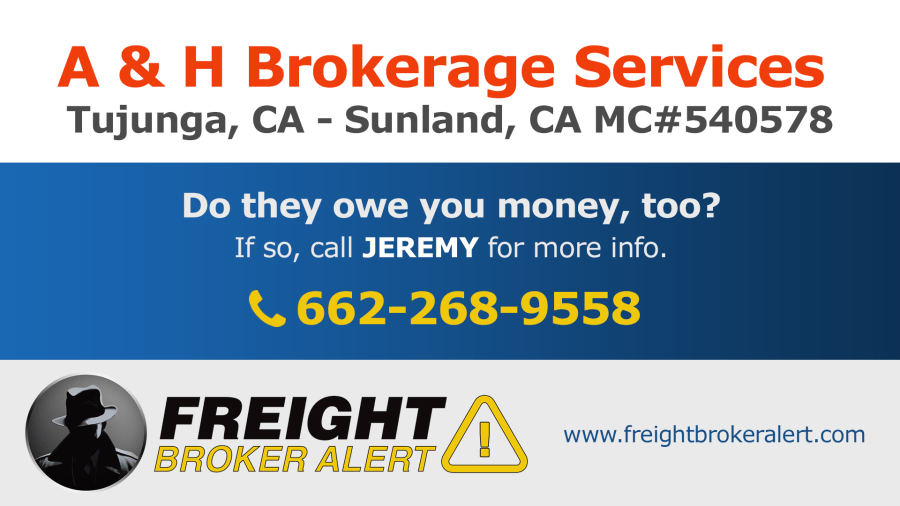 A & H Brokerage Services Inc California