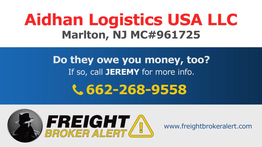 Aidhan Logistics USA LLC New Jersey Las Vegas