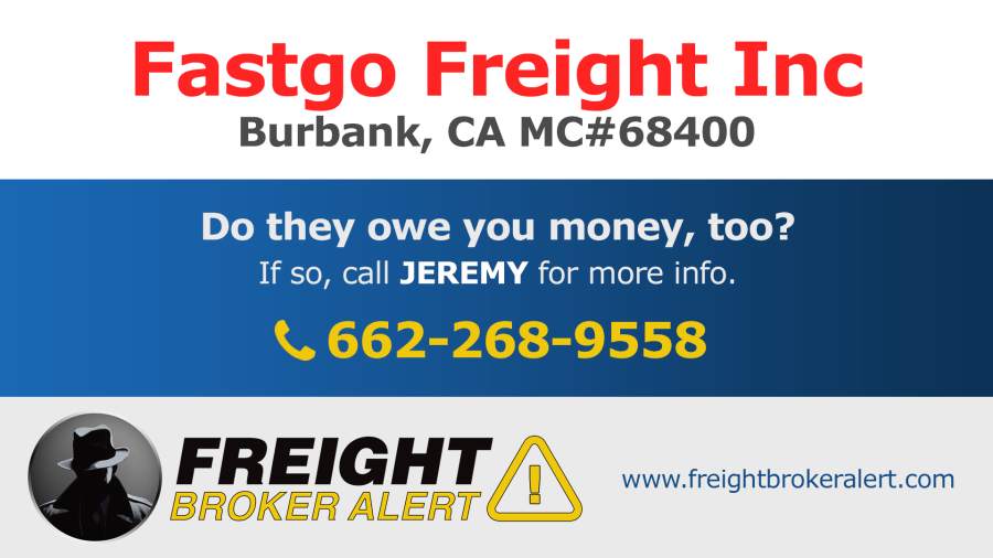 Fastgo Freight Inc California