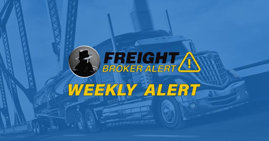 FREIGHT BROKER ALERT WEEKLY NEW DEBTOR ALERT 11-21-18
