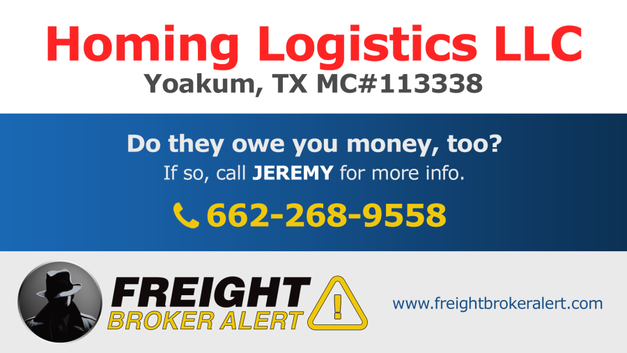 Homing Logistics LLC Texas