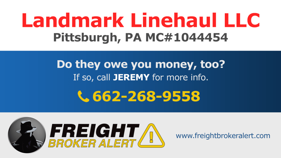 Landmark Linehaul LLC Pennsylvania