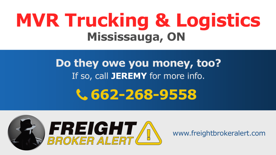 MVR Trucking & Logistics Mississauga