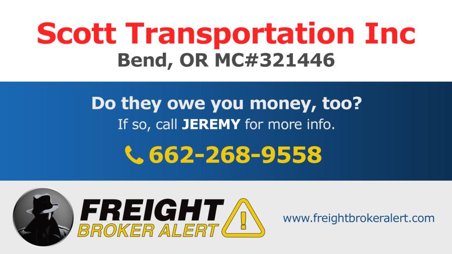 Scott Transportation Inc Oregon