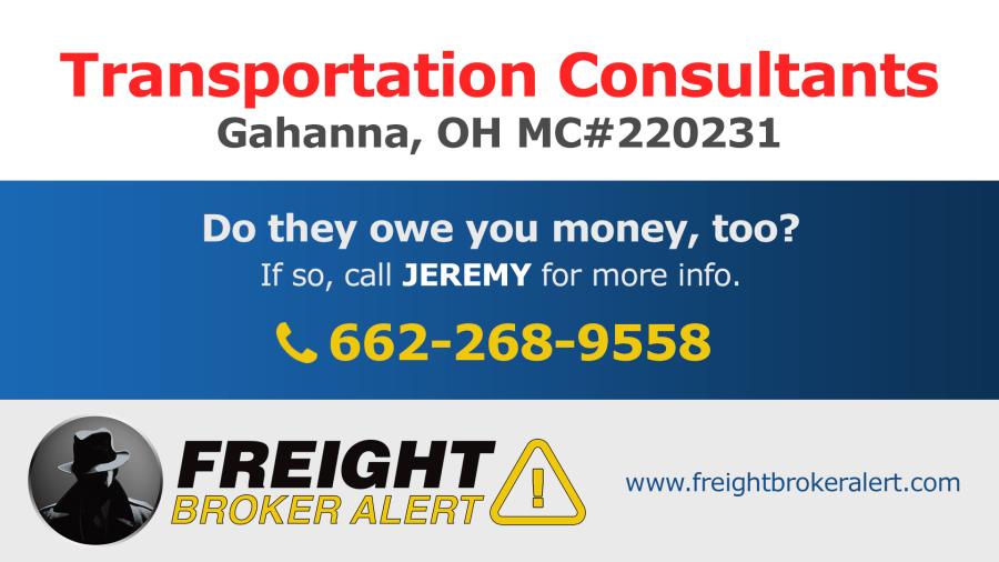 Transportation Consultants Inc Ohio