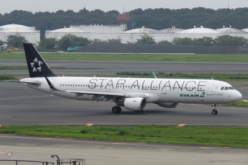 エバー航空 Airbus A321 B-16206 成田國際空港 航空フォト | by SFJ_capさん 撮影2019年08月16日
